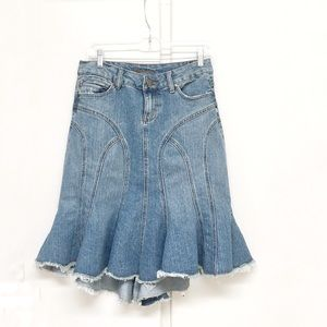 Younique Jeans Flared Bottom Skirt